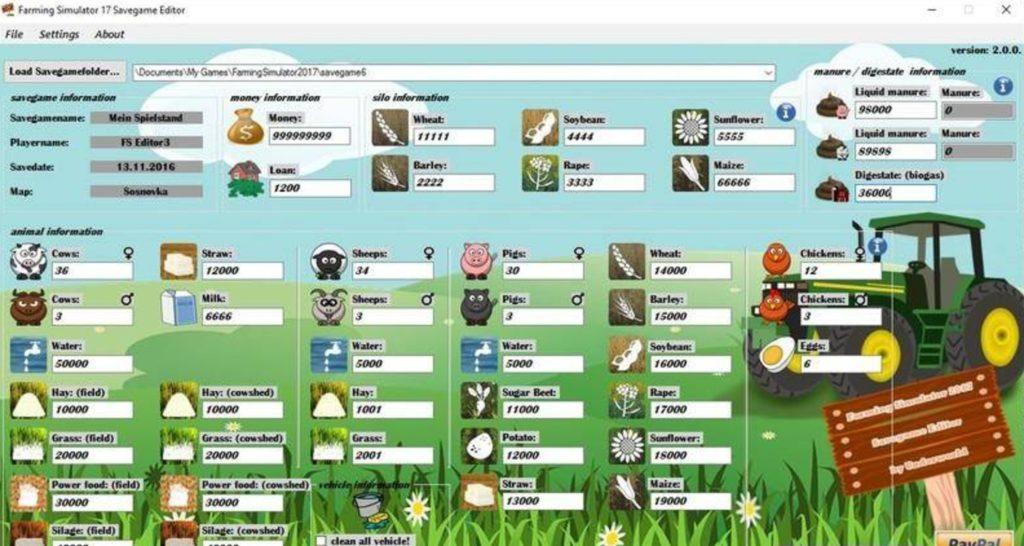 FS19 SaveGame Editor V 3 0 - Farming Simulator 19 mod, LS19 Mod