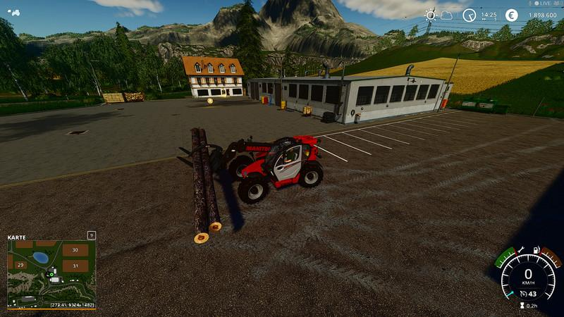 FS 19 Telehandler Poltergabel v1 0 - Farming Simulator 19 mod, LS19