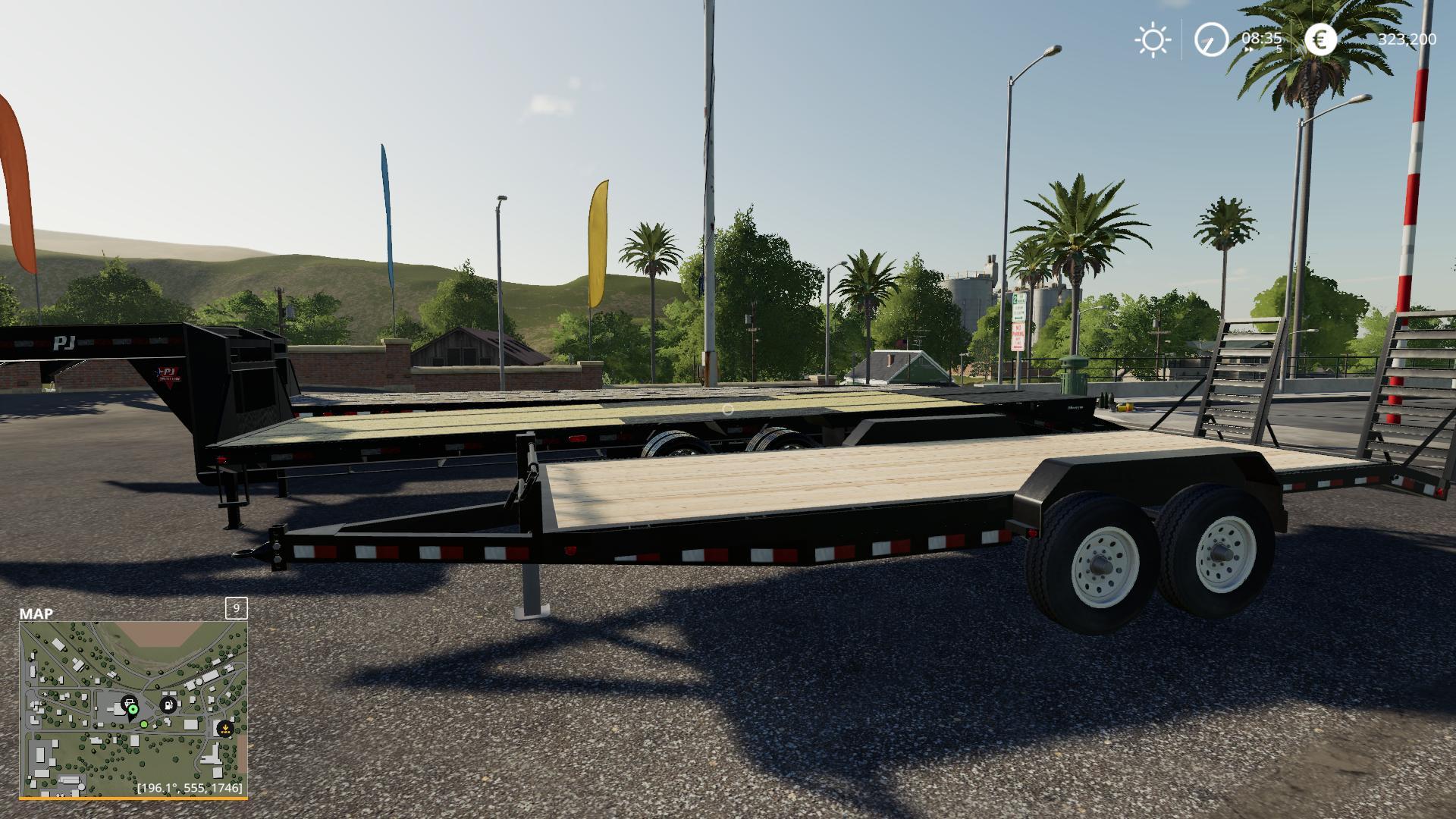 FS 19 3 trailers in 1 mod pack v1 0 - Farming Simulator 19 mod, LS19