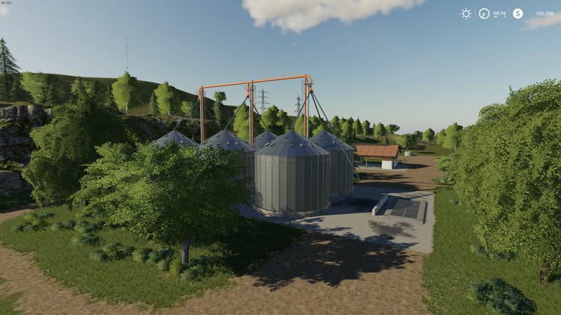 FS 19 Farm Silo XLarge v1 1 - Farming Simulator 19 mod, LS19 Mod