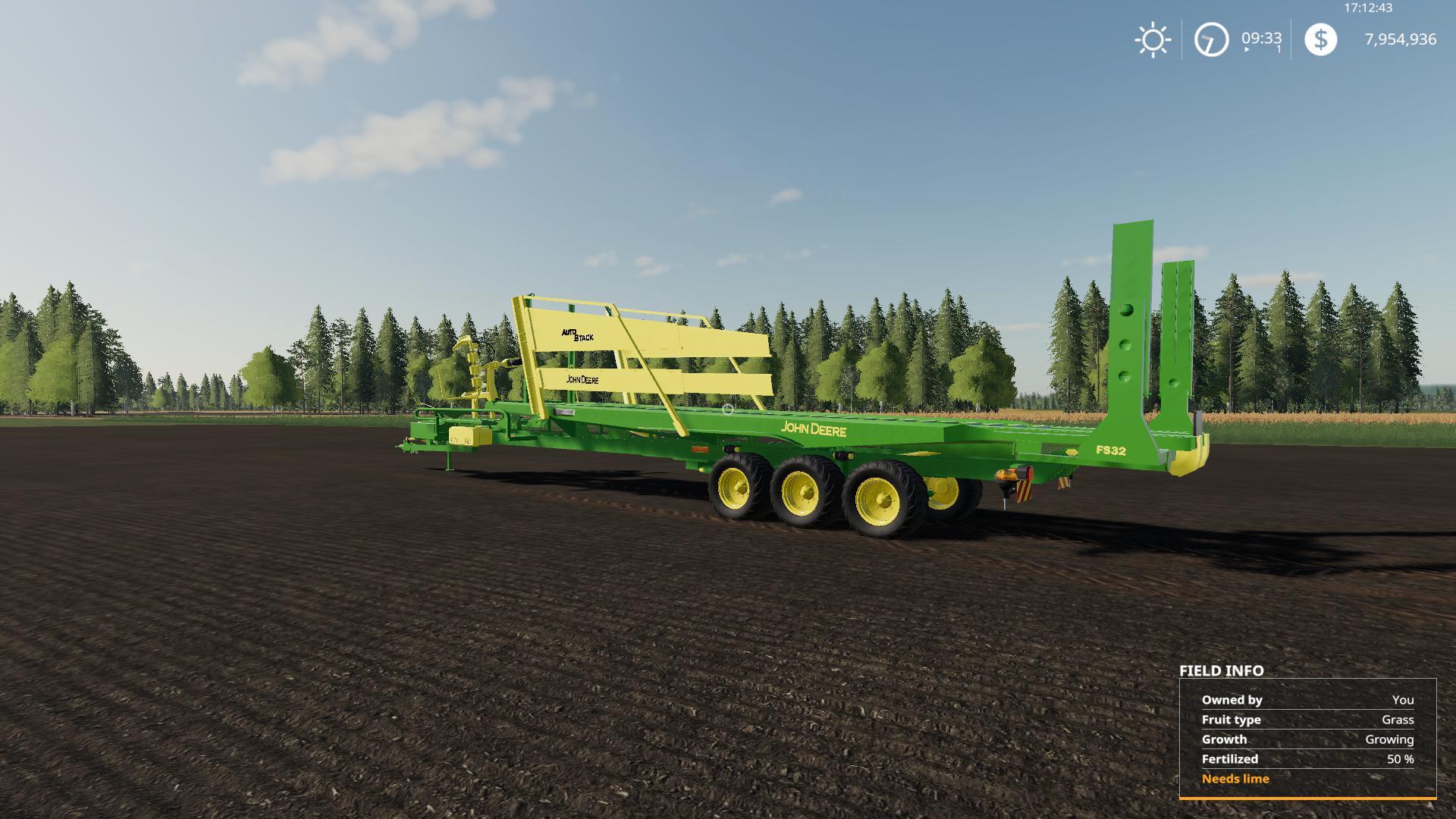FS 19 John Deere 32 bale Autostacker v2 0 - Farming Simulator 19 mod
