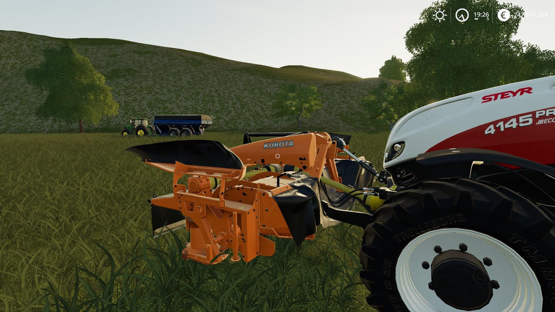 LS19 KUBOTA DMC7028T v1 1 - Farming Simulator 19 mod, LS19