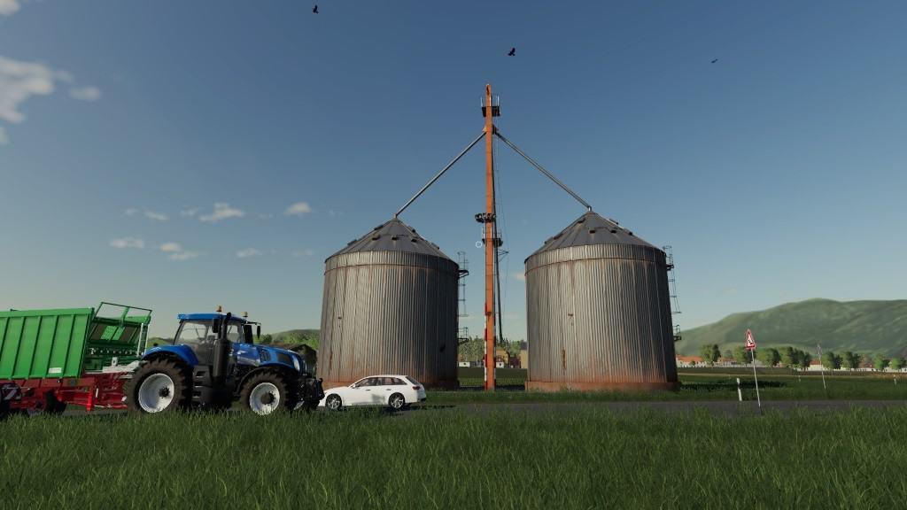 FS 19 Placeable Farm Silo 1 1 0 0 - Farming Simulator 19 mod