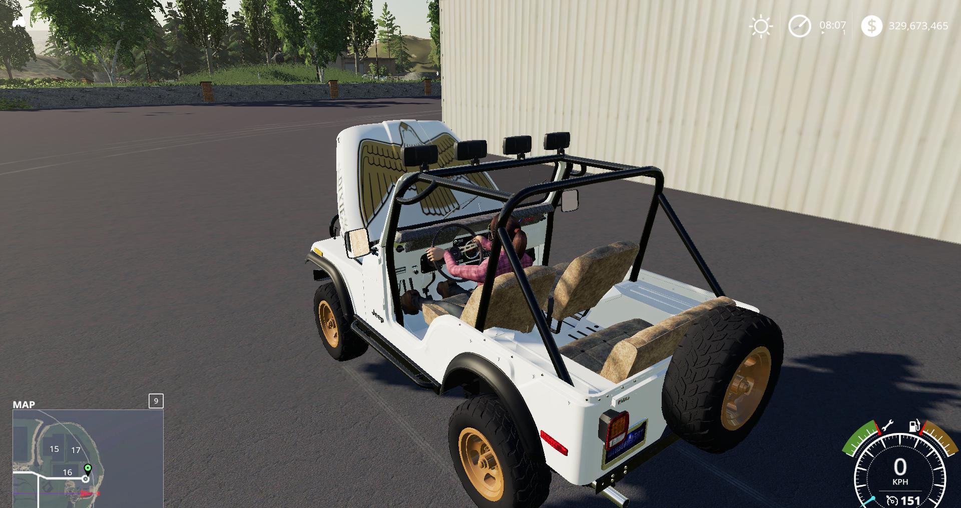 Ls2019 Daisy S Jeep V1 0 0 0 Farming Simulator 19 Mod