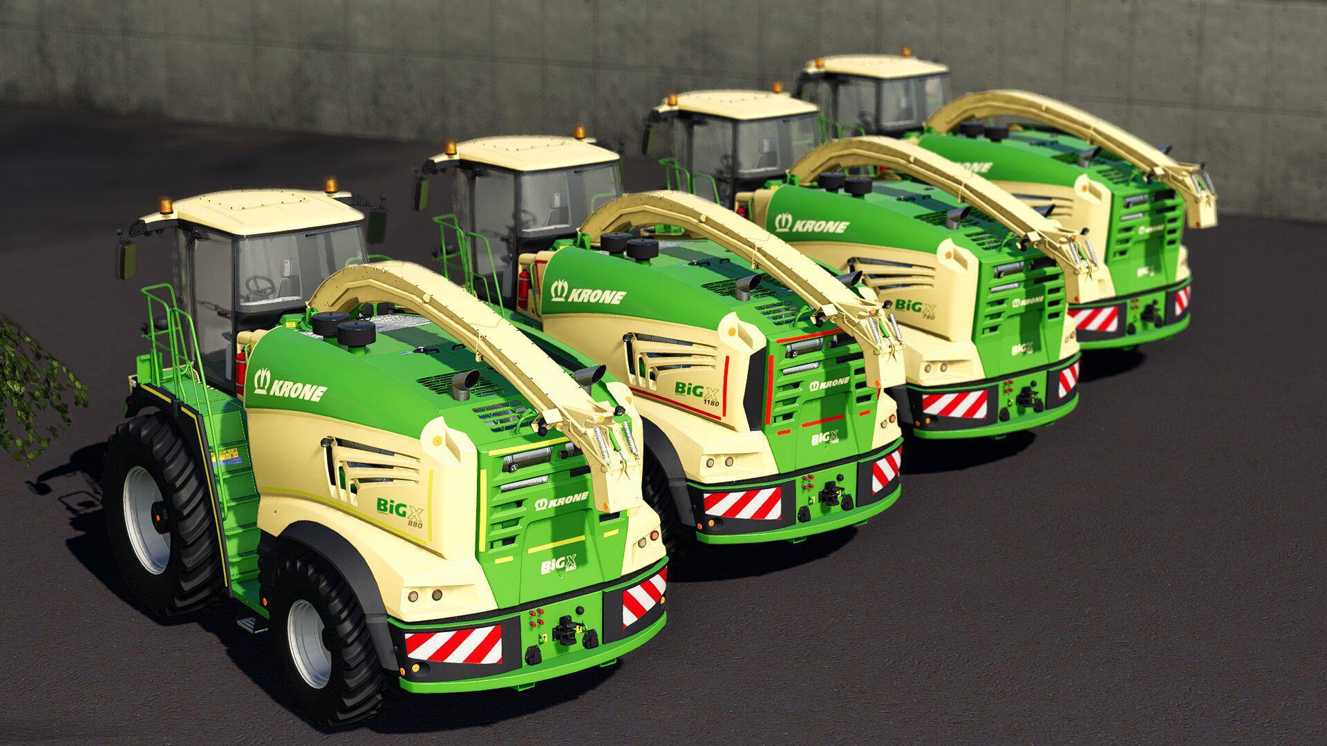 Mod Krone BiGX Serie 1 & 3 v1 0 - Farming Simulator 19 mod, LS19 Mod