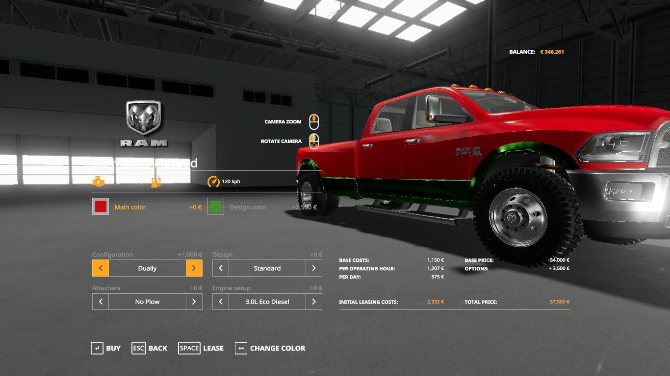 FS 19 Dodge ram 3500 v1.0 - Farming Simulator 19 mod, LS19 ...