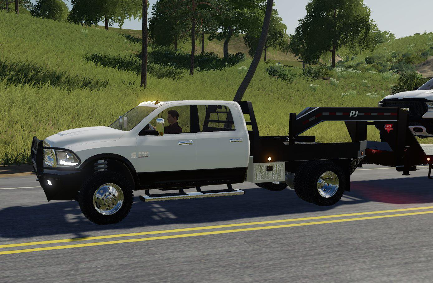 Dodge Ram 3500 Flatbed V1 0 0 0 Truck Farming Simulator 19 Mod Ls19 Mod Download